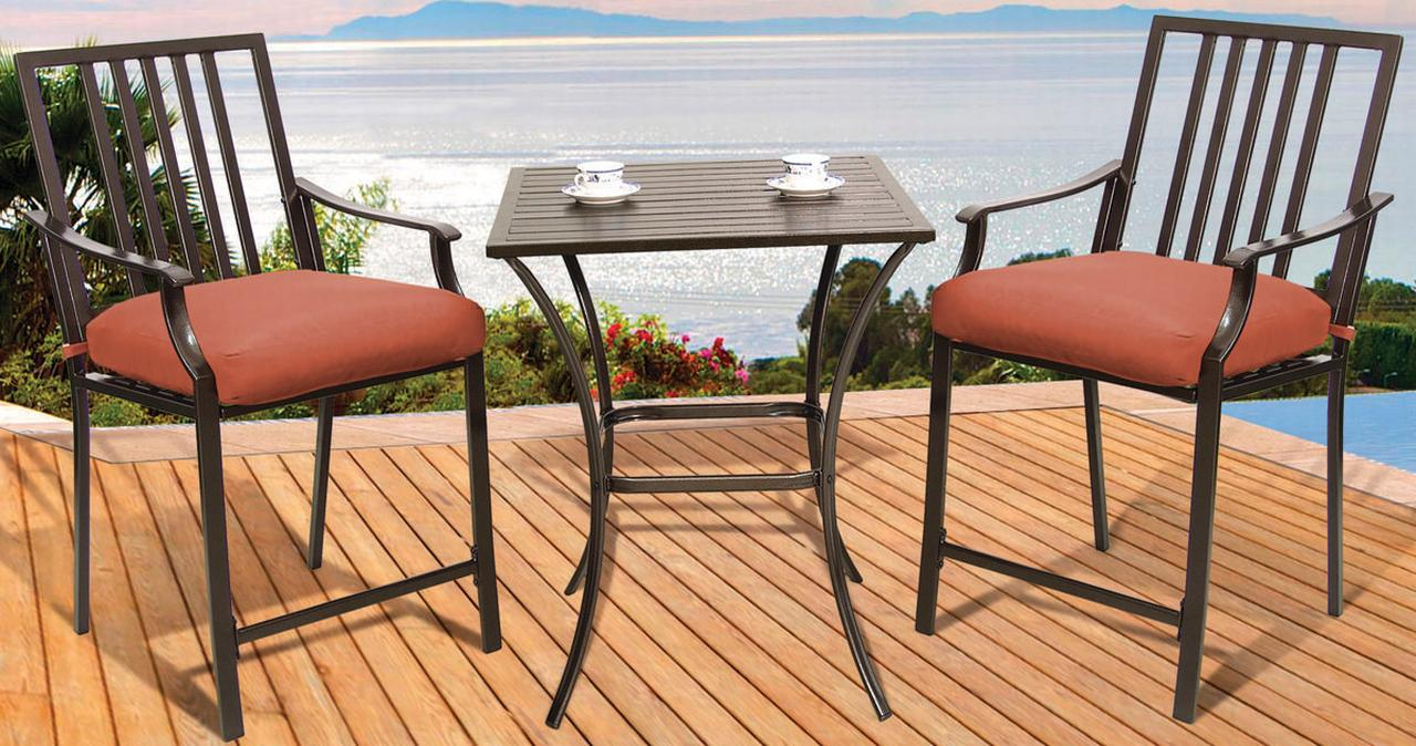 Exceptionnel Pride Family Brands XD6308D13UO2J33CJ Cushioned Balcony Dining Set