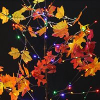 Thanksgiving Decorations Fall Garland 10 LEDs Maple Leaf String Lights, 3AA Battery Powered Autumn Decor Lighted Garland for Holiday Party Indoor Outdoor Decor