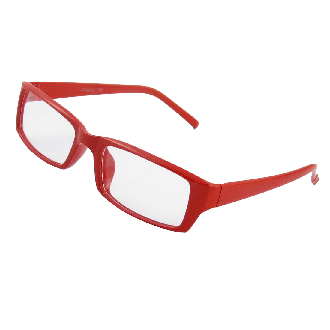 1122b6df21bd Ladies plastic red arms nerd geek clear lens plain rimmed glasses jpg  450x450 Red rimmed glasses