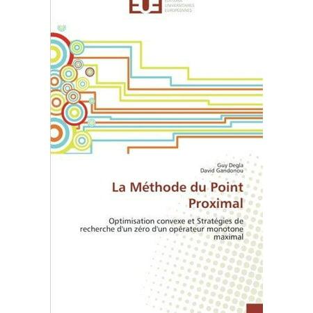 La Methode Du Point Proximal - image 1 de 1