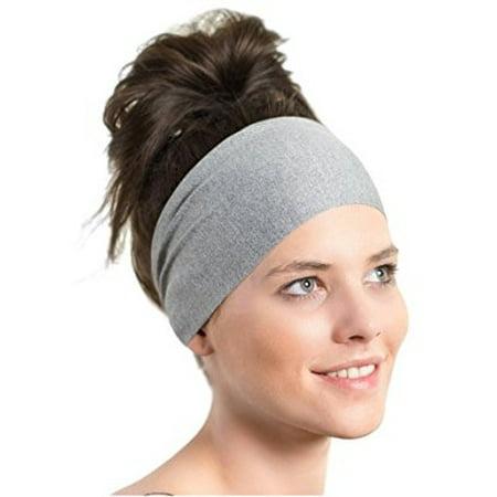 4d8910fbdefd Lightweight Sports Headband - Red Dust Active - Non Slip Moisture Wicking  Gray Sweatband - Ideal