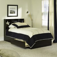 Deals on Mainstays Mates Storage Bed with Bookcase Headboard Twin
