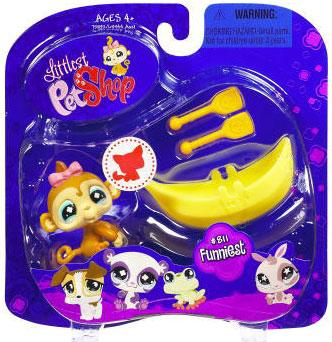 Littlest Pet Shop 2009 Assortment A Series 2 Monkey Figure [Banana Boat & Oars]