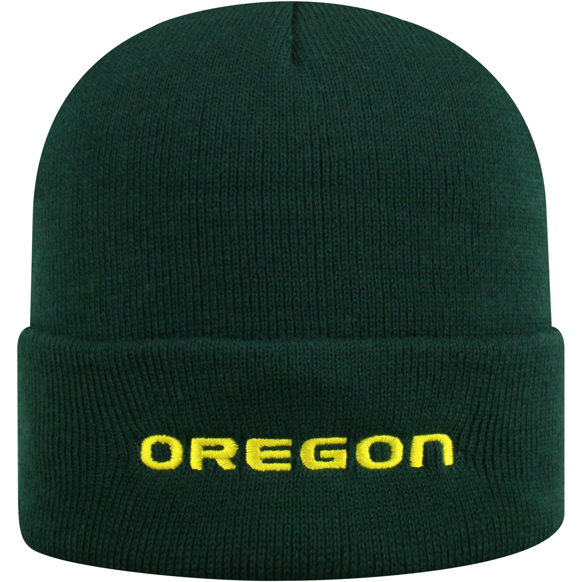 Youth Russell Green Oregon Ducks Team Cuffed Knit Hat - OSFA