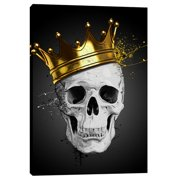 Cortesi Home ''Royal Skull'' by Nicklas Gustafsson Graphic Art on Wrapped Canvas