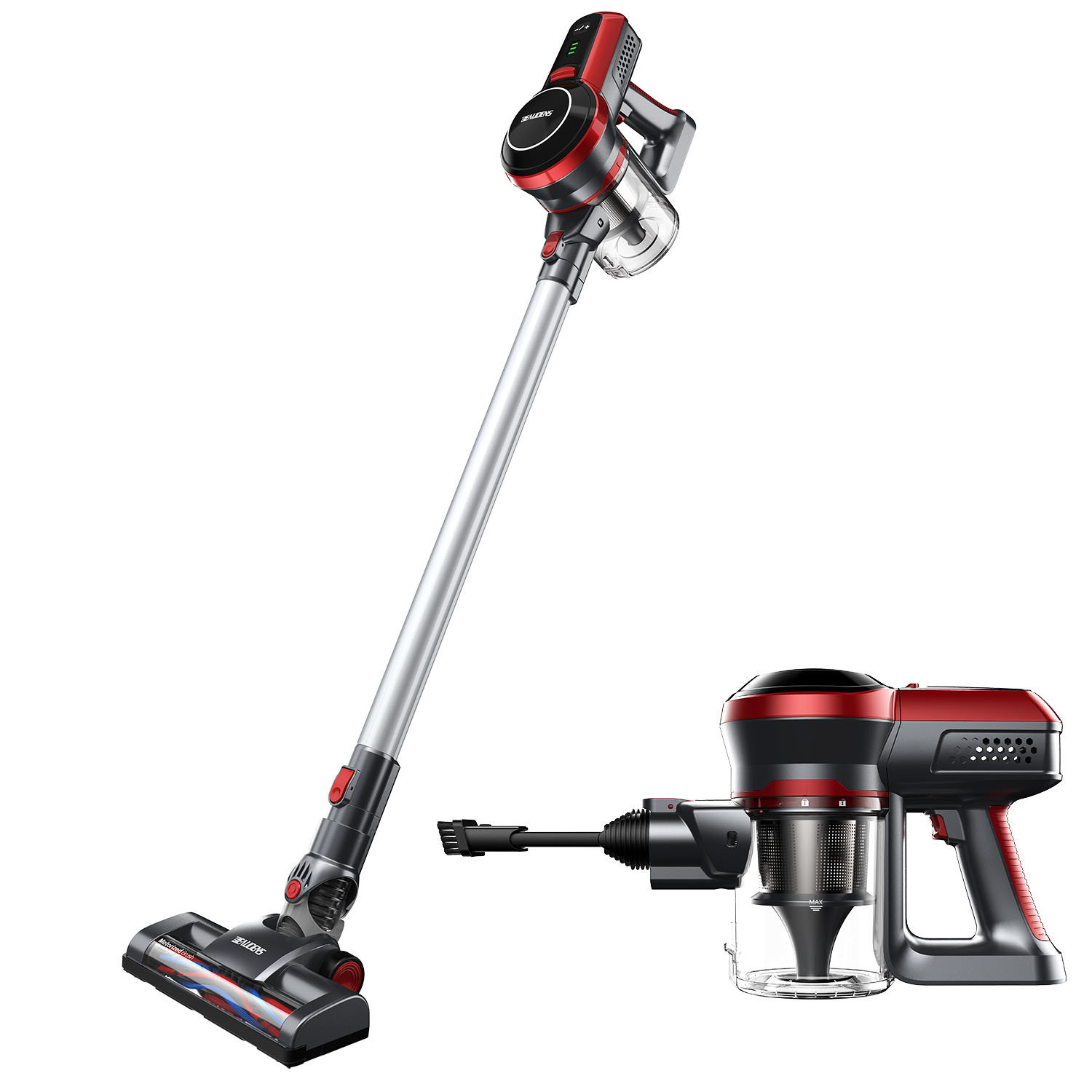 BEAUDENS 2-in-1 Cordless Vacuum Cleaner on clearance, 9Kpa High Suction Stick and Handheld