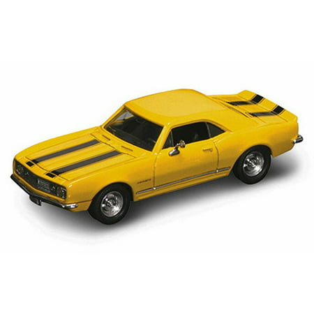 Camaro Z28 Convertible - 1967 Chevy Camaro Z28, Yellow w/ Stripes - Yatming 94216 - 1/43 Scale Diecast Model Toy Car
