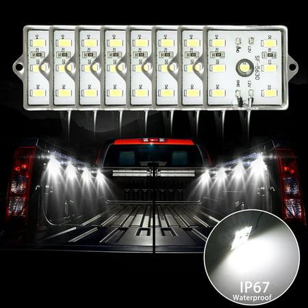 Truck Dome Light (TSV 2-Packs White LED Truck Bed Dome Roof Lighting Light Lamp Kit for Chevy Dodge GMC.)