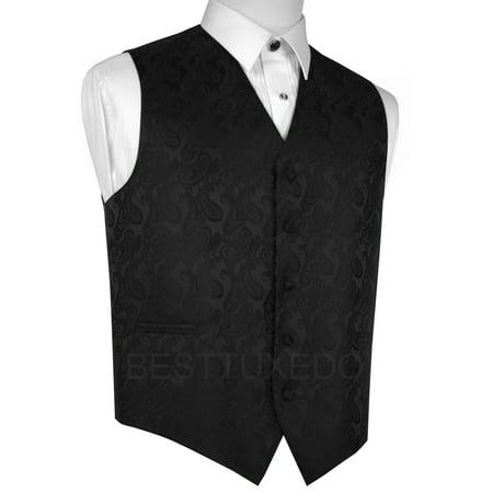 Italian Design, Men's Formal Tuxedo Vest for Prom, Wedding, Cruise , in Black - Formal Italian