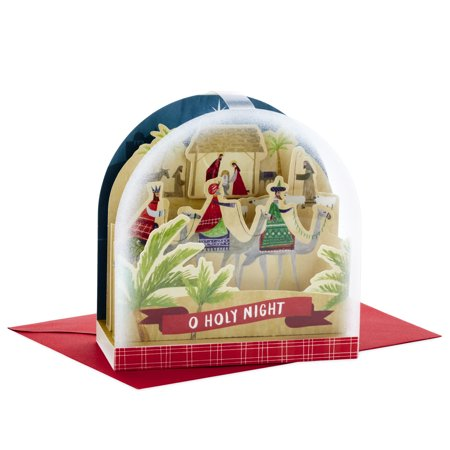 Hallmark Paper Wonder Pop Up Christmas Card Snow Globe (Nativity Scene) ()