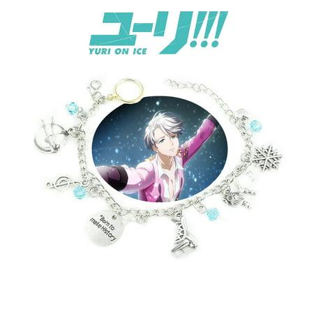 Yuri on Ice Charm Bracelet Anime Manga Series Jewelry Multi Charms - Wristlet - Superheroes Brand Movie Comic Cartoon Collection