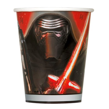 STAR WARS EPISODE 7 THE FORCE AWAKENS 9 OZ. PARTY CUPS, 8-COUNT - Star Wars Party Cups