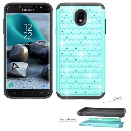 best service 7ea4b 94e5c Phone Case for Samsung Galaxy J7 Aura, J7 Crown, J7 Aero, J7 V 2nd-Gen.  (Verizon), J7 Top, J7 (2018), Galaxy J7 Refine, J7 Star  Crystal-Dual-Layered ...