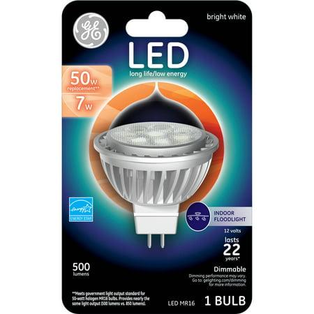 Ge 45639 Dimmable Mr16 Gu53 Base Bright White Led Light Bulb 500