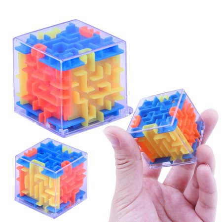Outtop 3D Cube Puzzle Maze Toy Hand Game Case Box Fun Brain Game Challenge Fidget Toys - Big Brain Toys