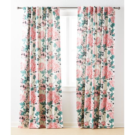 Vintage Floral Curtain Panel Pair by Drew Barrymore Flower Home ()