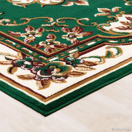 Allstar Green Woven High Quality Rug. Traditional. Persian. Flower. Western. Design Area Rug (7' 7