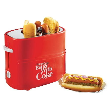 Nostalgia HDT600COKE Coca-Cola Series Pop-Up Hot Dog Toas...
