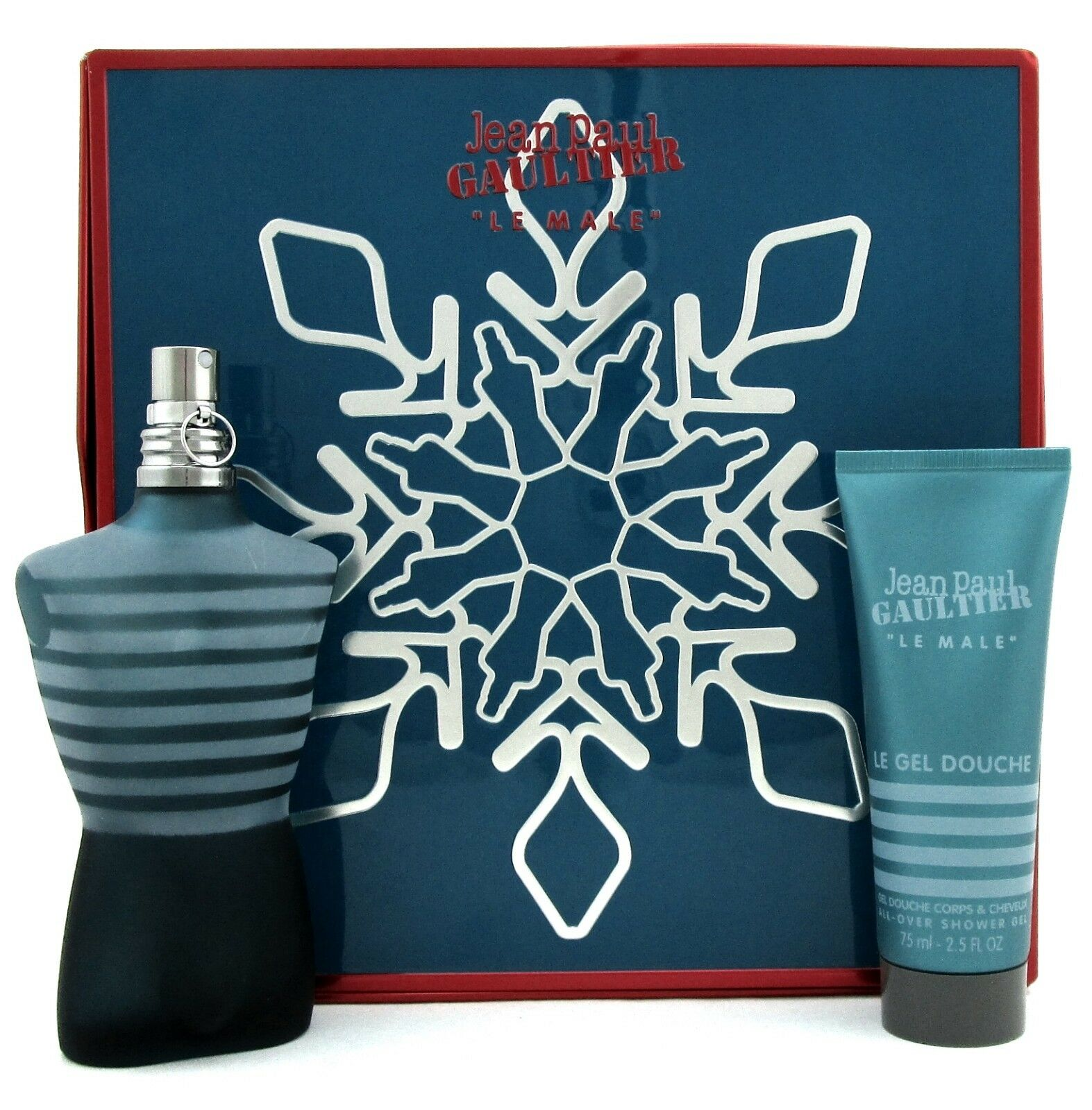 Jean Paul Gaultier Le Male Set for Men: 4.2 oz.EDT Spray +2.5 oz.S/Gel. New Box.