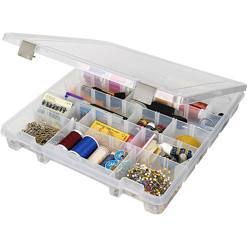 Art Bin Super Satchel Slim 8 Compartment Box, Translucent