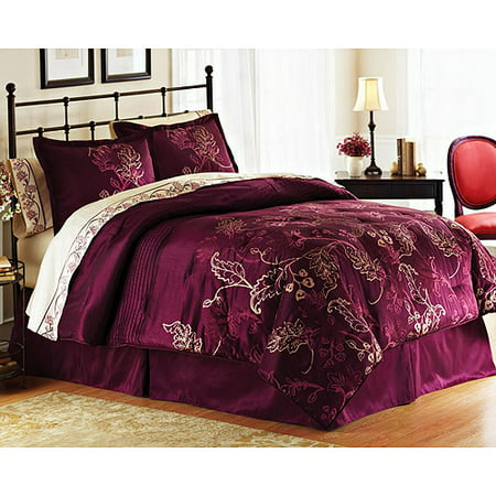 Better Homes And Gardens Plum Parfait 8 Piece Bed In A Bag