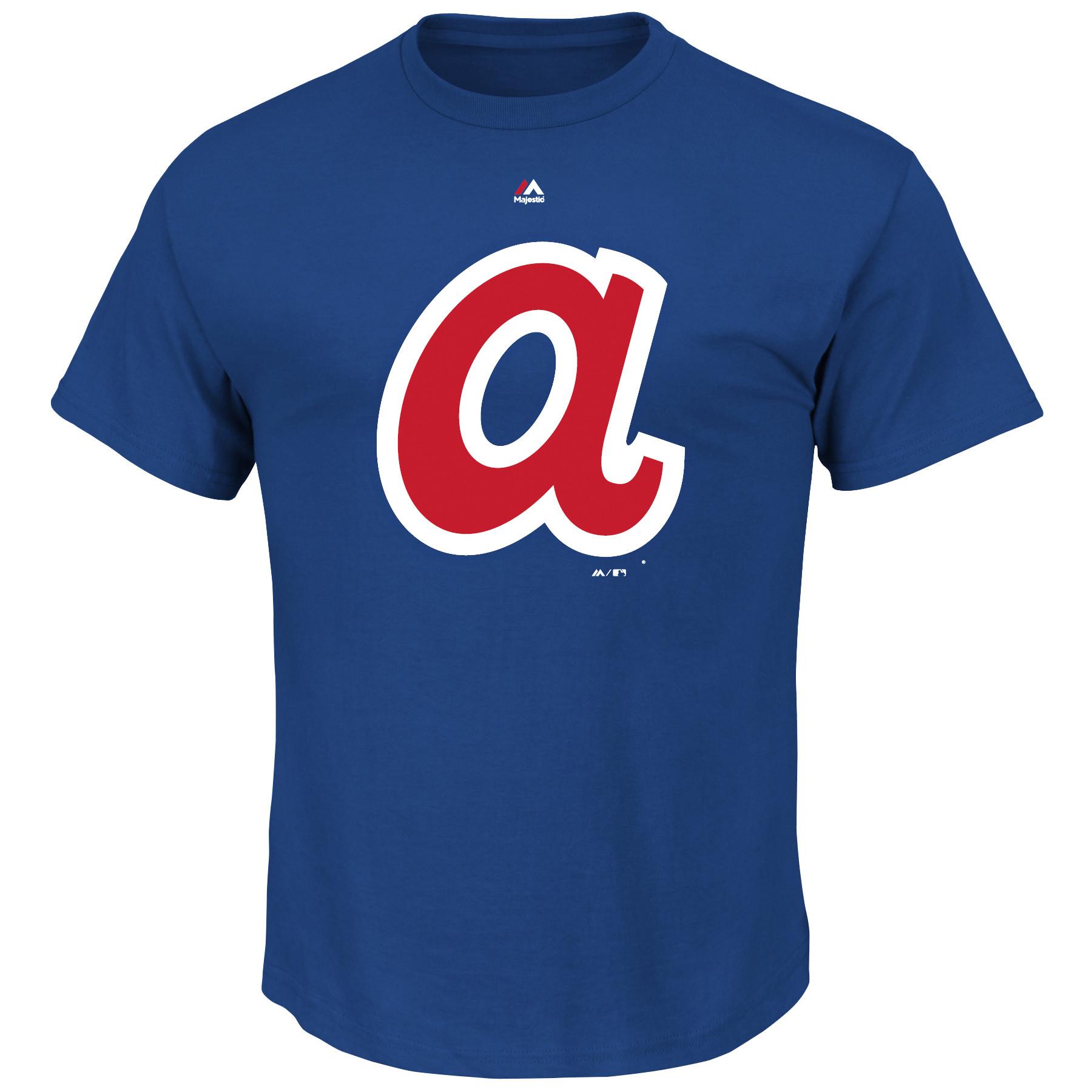 Men's Majestic Royal Atlanta Braves Big & Tall Cooperstown Logo T-Shirt
