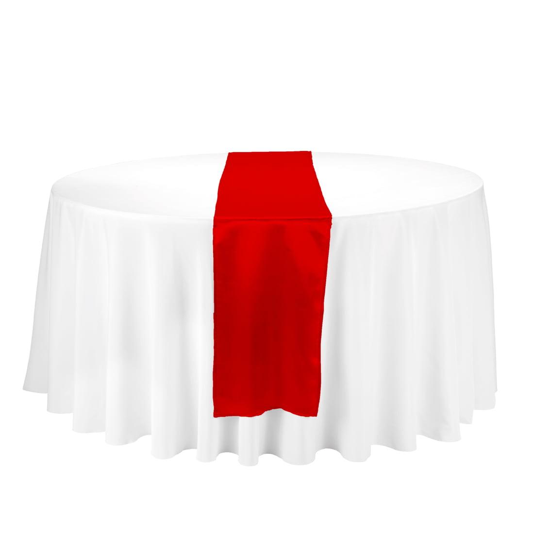 14 x 108 in satin table runner red walmart com