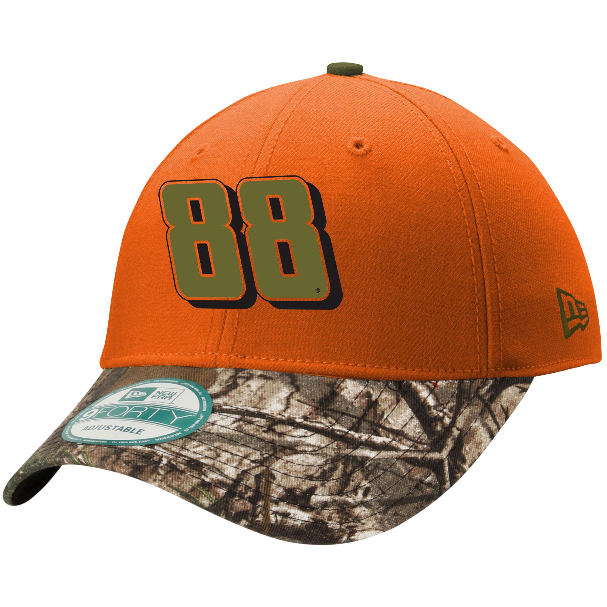 Dale Earnhardt Jr. New Era Safety Orange 9FORTY Adjustable Hat - Orange - OSFA