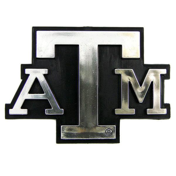 Texas A&M Aggies Silver Auto Emblem Decal Sticker
