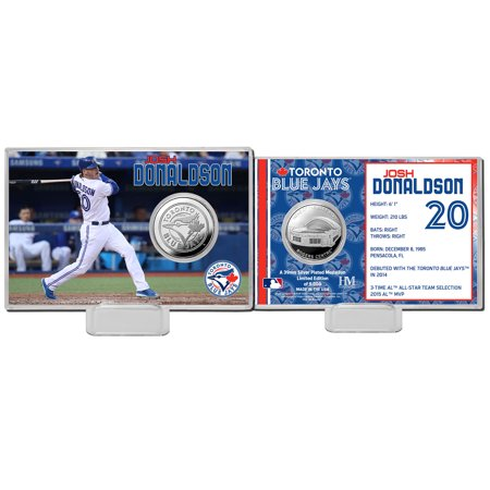 Josh Donaldson Toronto Blue Jays Highland Mint Mint Player Silver Collector Coin Card - No Size
