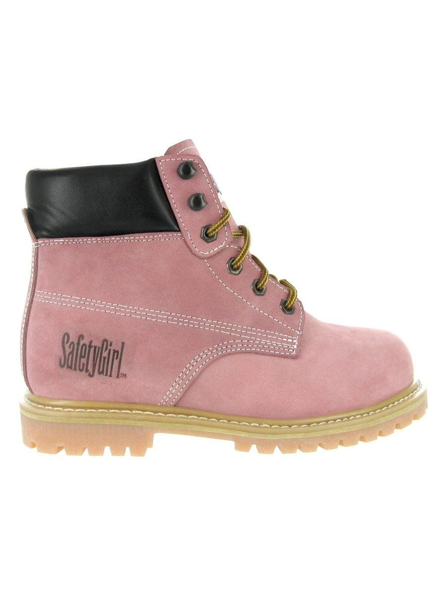 SafetyGirl Steel Toe Waterproof Womens Work Boots - Pink Light Pink - -6M 9ad0bb