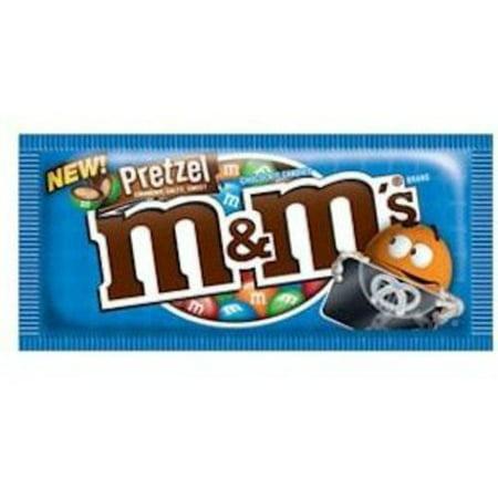 M&M's, Milk Chocolate Pretzel Candies, 1.14 Oz (Individual Color M&ms)