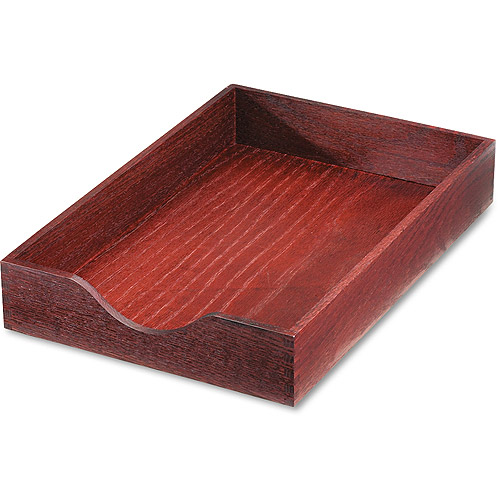 Carver Hardwood Legal Stackable Desk Tray, Mahogany