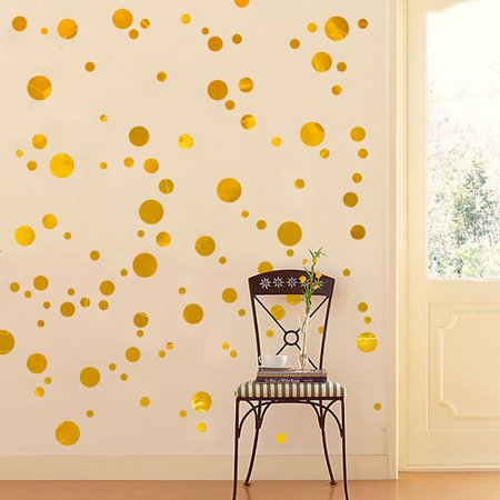 Reactionnx Wall Decal Dots, Decorative Wall Decal, Safe on Painted Walls, Removable PVC Dot Decor, Mixed Dia Size Design, Round Sticker Large Paper Sheet Set for Nursery Room,