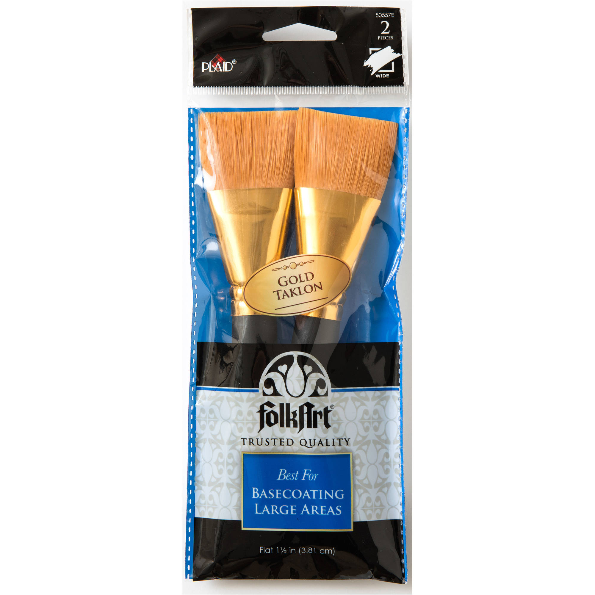 Plaid Flat Brush Set, 2 piece