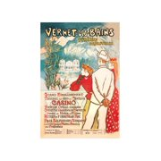 """Vernet-Les-Bains: Pyrenees Orientales"" Print (Black Framed Poster Print 20x30)"