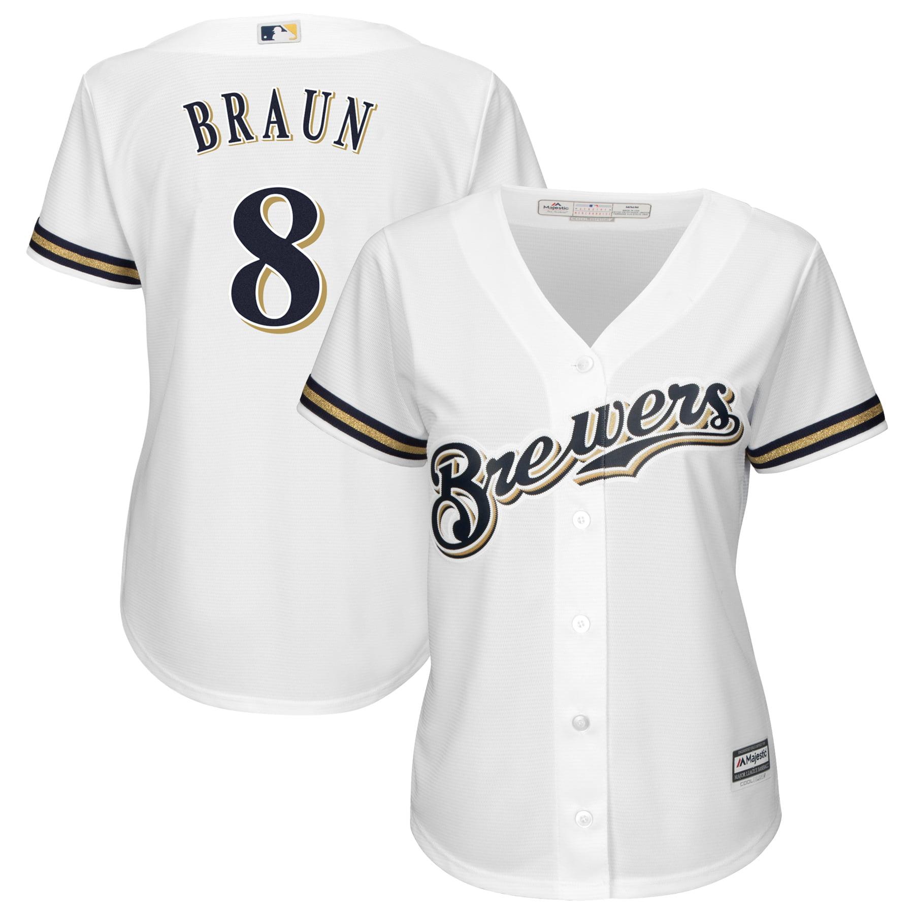 Ryan Braun Milwaukee Brewers Majestic Women's Alternate Cool Base Replica Player Jersey - White