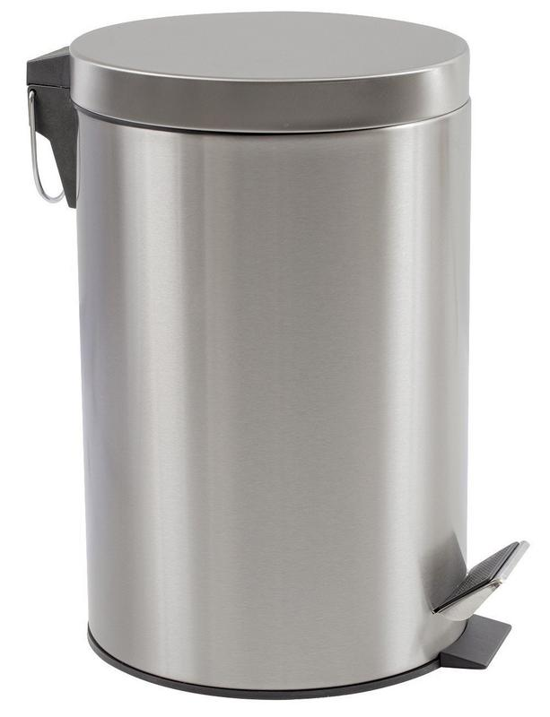 Estilo Round Brushed Stainless Steel Step Trash Can 12L   3.17 GAL Fingerprint Resistant by Estilo