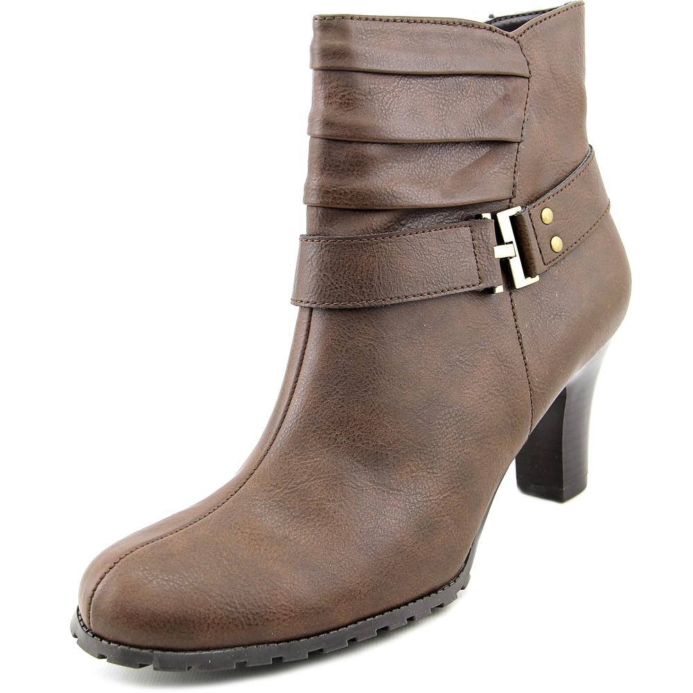 A2 By Aerosoles Sleep Walk Women Round Toe Synthetic Brown Ankle Boot by A2 By Aerosoles