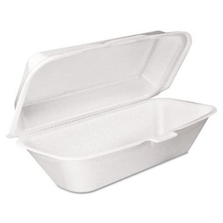 Dart Foam Hoagie Container w/Removable Lid, White, (Hoagie Foam)