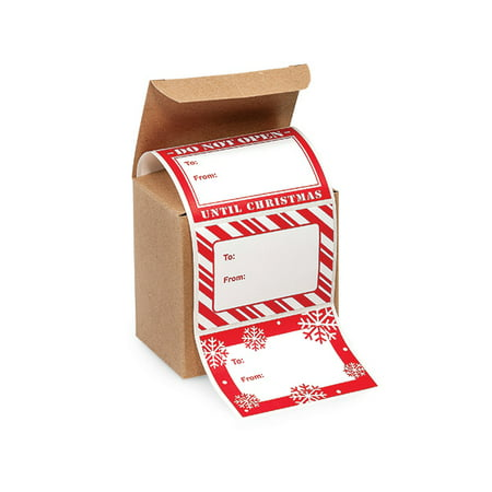Jumbo Red and White Christmas Peel and Stick Gift Tag Labels -72ct](Small Halloween Gift Tags)