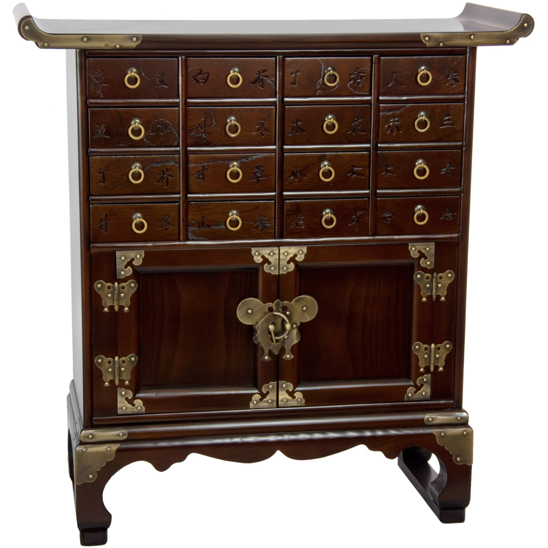 Oriental Home Korean Antique Style 16 Drawer Medicine Chest (Korea)
