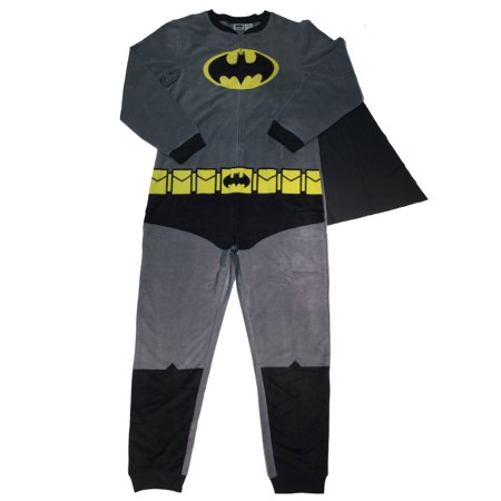 Batman Men's Gray Union Suit with Cape, -