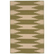 Liora Manne Terrace 1785/76 Taos Green Area Rug 39 Inches X 59 Inches