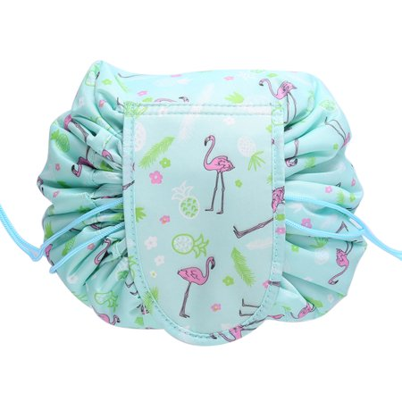 bf917a430e83 Jeobest Drawstring Cosmetic Bag Travel Lazy Makeup Storage Bag - Portable  Drawstring Makeup Bag Round Large Capacity Lazy Cosmetic Organizer Pouch ...