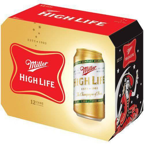Miller High Life Beer, 12 fl oz, 12 pack