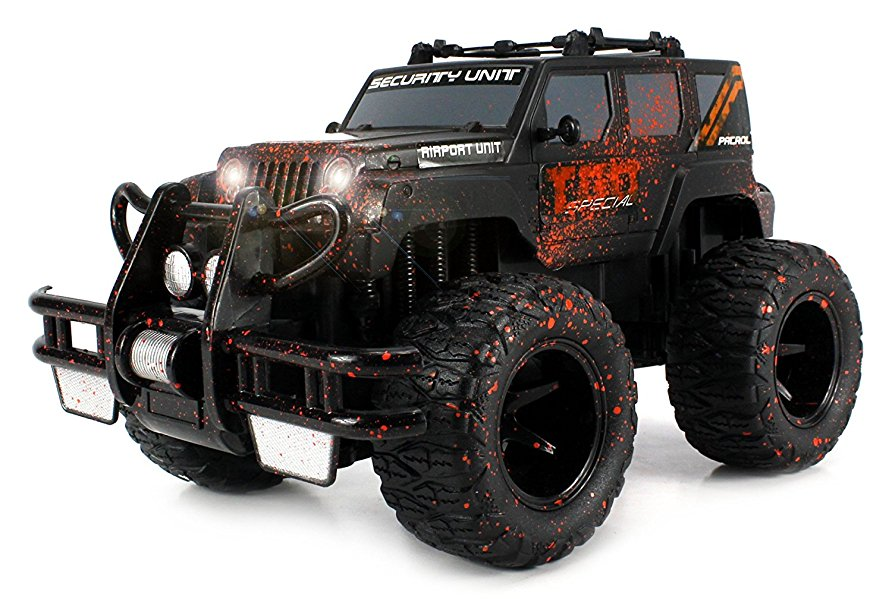 Super Cool Monster Mud Jeep SUV Rechargeable Battery Operated RC Off-Road Truck 1:16 Size w  Bright... by Velocity Toys