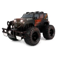 Super Cool Monster Mud SUV Rechargeable Battery Operated RC Off-Road Truck 1:16 Size w/ Bright Headlights, Custom Mud Splatter Paint (Colors May Vary) Remote Controlled Vehicle, RC