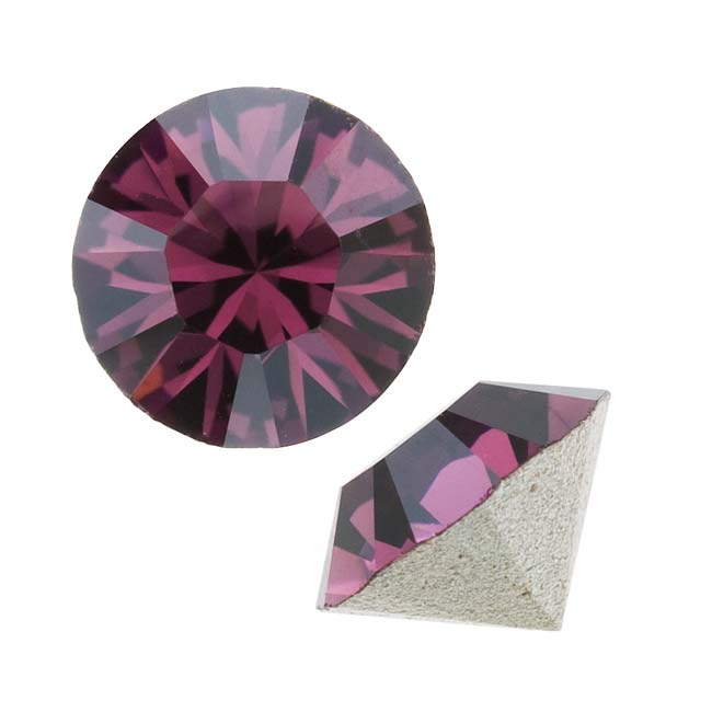 Swarovski Crystal, #1028 Xilion Round Stone Chatons pp24, 36 Pieces, Amethyst
