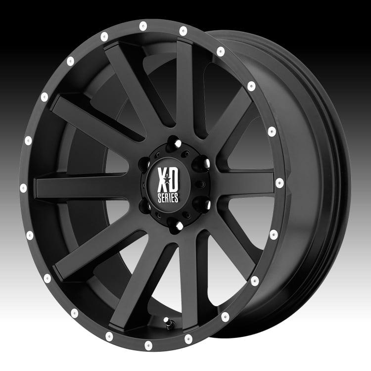 KMC XD XD818 Heist Satin Black 16x8 6x4.5 10mm (XD81868064710)